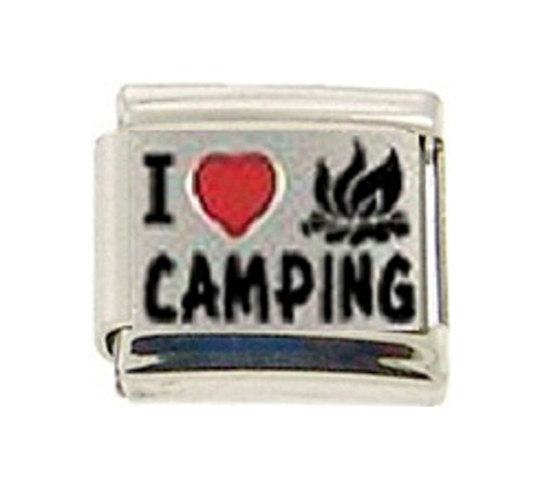 Stylysh Charms Camp I Love Camping RH Laser Italian 9mm Link NC064 -