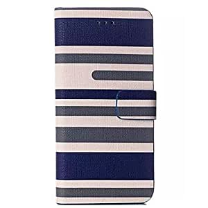 JJE Fashion Stripe PU and TPU Full Body Case with Stand for iPhone 6 (Assorted Colors) , 1#