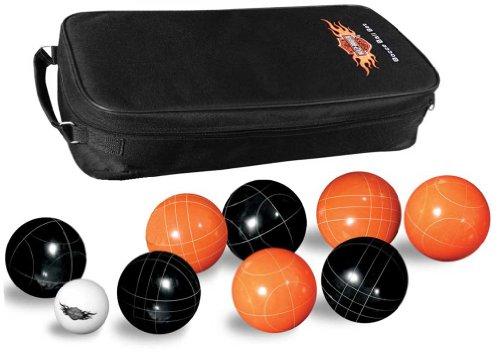 Harley-Davidson Bocce Ball Game Set: Set of 8 Balls, Black & Orange 66225