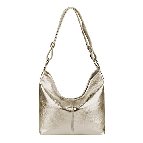 Bolso Obc Only Champán Para De couture Piel beautiful Asas Mujer qttnHxr