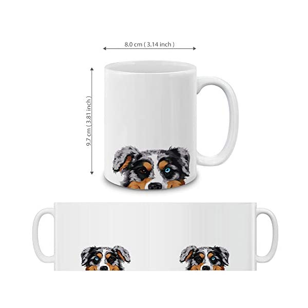 MUGBREW Merle Aussie Australian Shepherd Dog Ceramic Coffee Gift Mug Tea Cup, 11 OZ 4
