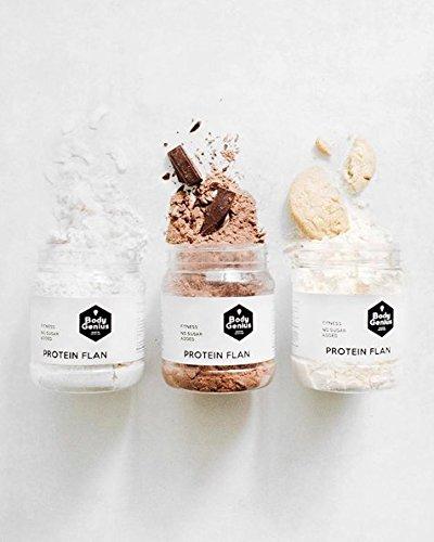 Body Genius PROTEIN FLAN (Galleta). Preparado para flan protéico sabor Galleta. Con Stevia y sin azúcares o polialcoholes añadidos. 275gr.