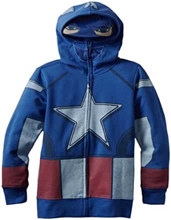 Freeze Big Boys' Captain America Hoodie, Royal, X-Large