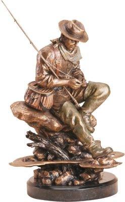 DEMDACO Bliss Bronze Color 13 x 8 Hand-cast Resin Decorative Sculpture ()