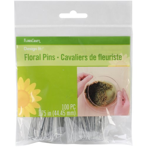 Floracraft Floral Pins, 1.75-Inch, 100 Per Package (Craft Pins)