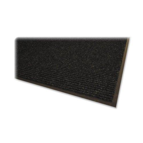 Genuine Joe Indoor Mat, Vinyl Backing, 4 by 6-Feet, Charcoal