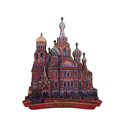 St. Petersburg Russia Church 3D Refrigerator Magnet Tourist Souvenirs Wood Magnetic Stickers Fridge Magnet Home & Kitchen Decoration from China