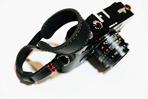 Henri by Eric Kim Handmade Premium Leather Camera Wrist Strap with Pad Pro Edition (Phantom Black)