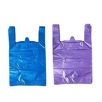 Amazon.com: lazyme Thick púrpura T Shirt bolsas de plástico ...