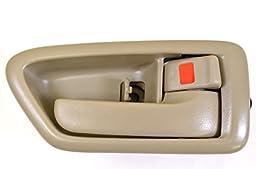 PT Auto Warehouse TO-2562E-RS - Inside Interior Inner Door Handle/Trim, Beige/Tan - Passenger Side