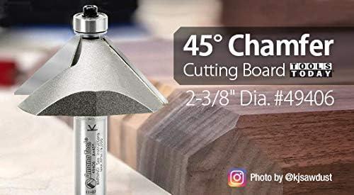 Amana Tool 49410 Carbide Tipped Chamfer 22-1//2/° x 1-1//4 Dia x 15//16 x 1//2 Sha