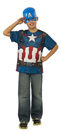 [Rubie's Costume Avengers 2 Age of Ultron Child's Captain America T-Shirt and Mask, Small] (Avengers 2 Captain America Costumes)