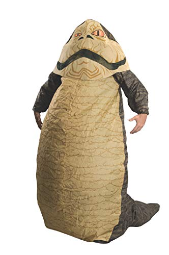 Rubie's Costume Star Wars Jabba The Hut Deluxe Inflatable Adult Costume, Brown, One Size (Fits Up To 44 Jacket Size)