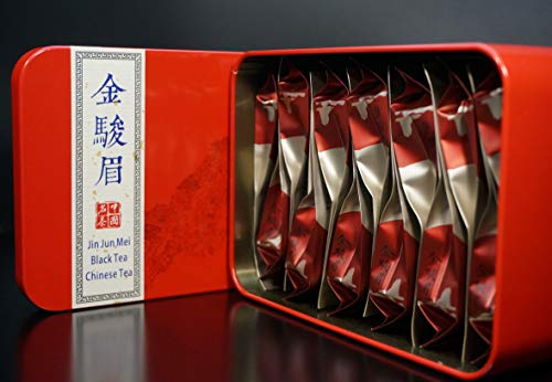 (JinJunMei Black Tea. Wuyi Rock Tea.Bohea Tea.Tea Box. Wuyishan Tongmuguan Place Of Origin.金骏眉红茶.Chinese Black Tea)