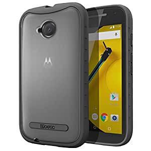 Moto E 2nd Gen Case - Poetic [Affinity Series] Moto E 2nd Gen Case - [TPU Grip Bumper] [Corner Protection] Protective Hybrid Case for Motorola Moto E 2nd Gen (2015) Frost Clear/Black (3-Year Manufacturer Warranty From Poetic)