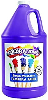 product image for Colorations Washable Tempera Paint, Gallon, Purple, Non Toxic, Vibrant, Bold, Kids Paint, Craft, Hobby, Fun, Art Supplies