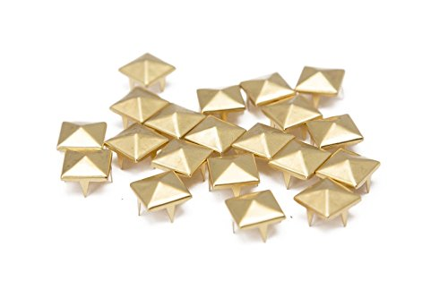 Trimming Shop 100 Pieces Gold Pyramid Studs Hand Pressed Or Machine Set Rivets Suitable For Leather Crafting Decorating And Repairing 12mm