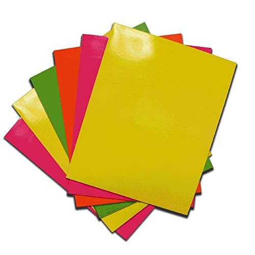 Better Office Products Glossy Two Pocket Paper Presentation Folders, Heavy Duty, Bright Assorted Colors, Letter Size, 6 Piece