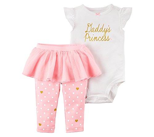 Carter's Baby Girls' 2 Piece Bodysuit & Tutu Pant Set 3 Months (Body 2 Piece Set)