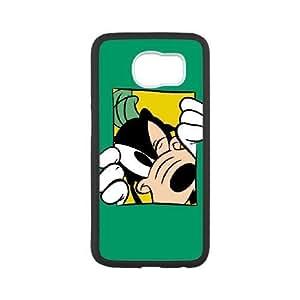 Samsung Galaxy S6 White phone case Disney Cartoon Characters Goofy DMU7772205