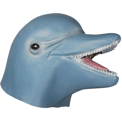 OvedcRay Adult Dolphin Mask Ocean Sea Marine Animal Fish Costume Latex Mask