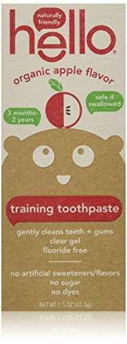Vitamin Paste (Hello Oral Care Fluoride Free Toddler Training Toothpaste, Organic Apple, 1.5 Ounce)