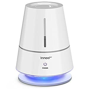 Humidifier, Innoo Tech Ultrasonic Cool Mist Humidifier, Table Lamp Humidifiers, Automatic Shut-Off, Night Light Function, 360° Rotatable Mist Outlets, 2.0L Capacity for Baby bedroom, Nursery bedd
