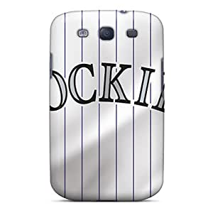 NewPacker Case Cover For Galaxy S3 - Retailer Packaging Colorado Rockies Protective Case