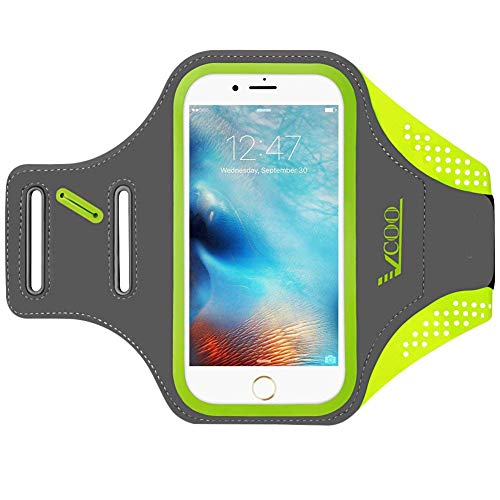 iPhone 7 Plus Armband, iPhone 6s Plus / 6 Plus Arm Band, VCOO Running Case for Phone Samsung Galaxy LG HTC Nokia Moto with 5.5 Inch Screen or Less, Workout Holder Build in Key + Headphone +Card/Cash