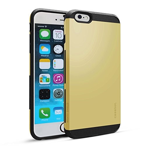 Fintie iPhone 6s Plus Case Cover - CaseBot Mighty Shield Series [Anti-Slip Air Padding Shockproof] Retail Packaging for Apple iPhone 6 Plus / 6s Plus (5.5-inch), Gold