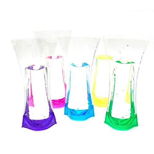 Bubble-Princess - Eco Friendly Foldable Flower PVC Durable Vase Transparent Flower Pot Home Wedding Party Event Store Decor Supplies
