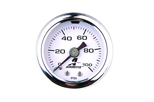 - Aeromotive 15633 Fuel Pressure Gauge - 0 to 100 psi