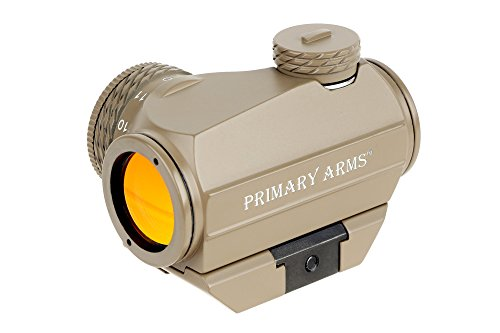 Primary Arms Silver Series Advanced Rotary Knob Microdot Red Dot Sight - 2 MOA, Removable Picatinny Mount, Est. 50,000 Hour Battery Life - FDE