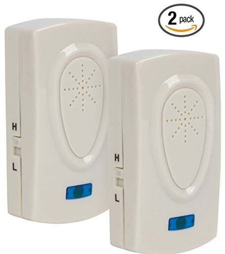 Set of 2 Ultrasonic Pest Control Repellers – Electronic Plug-in Repellent for Insects, Roaches, Flies, Spiders, Ants, Mice - Child Safe - Inaudible - Dual Power - Adjustable Frequency