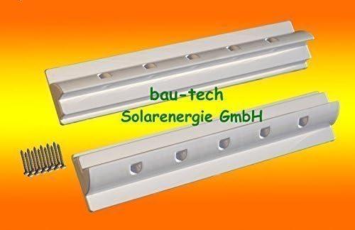 bau-tech Solarenergie 2 x Dachspoiler 68cm Weiss Haltespoiler Wohnmobil Dachbefestigung für Solarmodul GmbH
