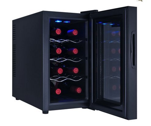 Ivation 8 bottle wine cooler with digital temperature for Modern homes 8 bottle wine cooler