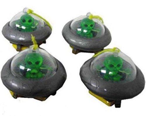 12 ( 1 Dozen ) Bulk Toy Lot Alien Ufo Space Ship with Parachute