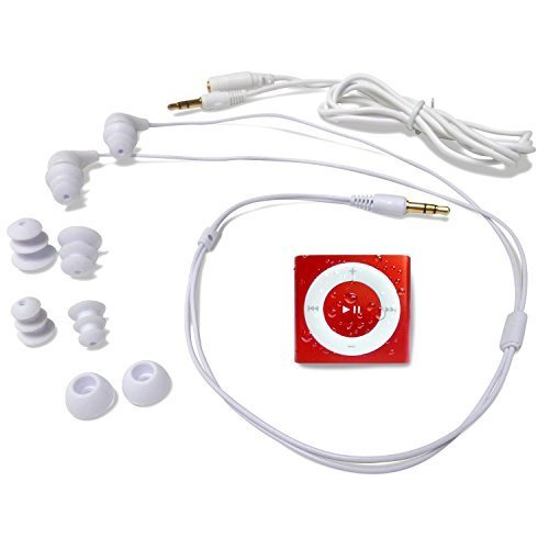 Underwater Audio Waterproof iPod Swimbuds Bundle (Red) by Underwater Audio