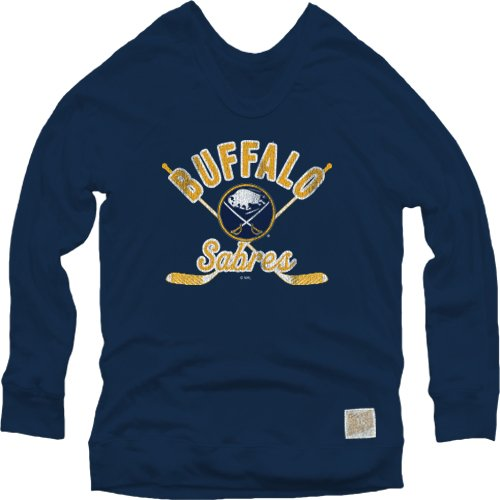 NHL Buffalo Sabres Women's Pullover Sweatshirt, Small, Navy (Buffalo Sabres Pullover)