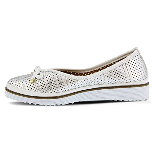 Flat Silver Leather Perforated Spring Abiah Step Women's gn77H6