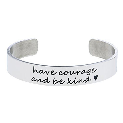 Melix Home Have Courage and Be Kind bracelet, Cuff Bracelet, Inspirational Quote, Cinderella, Birthday Back to School Gift Her, Princess