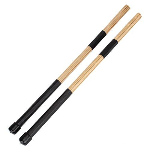 Pixnor 1 Paar schwarz Beige Bambus Trommel Bürsten 15,7