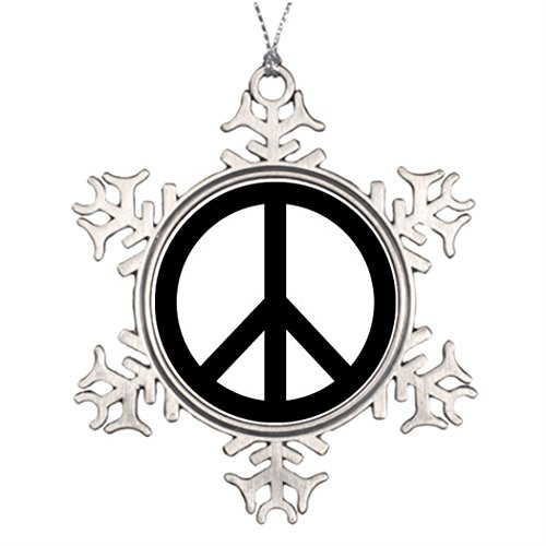 Withyouc Peace Sign Ideas For Decorating Christmas Trees Vintage Snowflake Ornament -