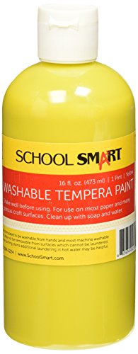 School Smart Washable Tempera Paint - Pint - Yellow