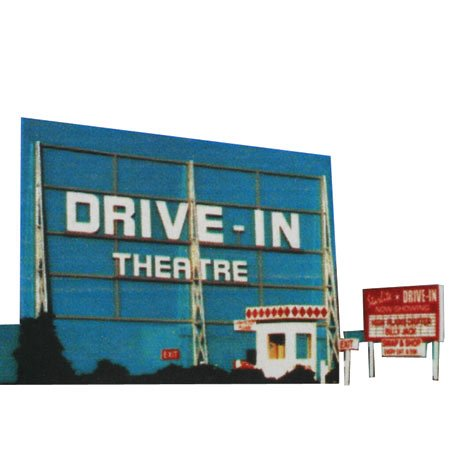 Blair Line HO Scale Kit Laser-Cut Drive-In Theatre (Cut Ho Blair Line Laser)