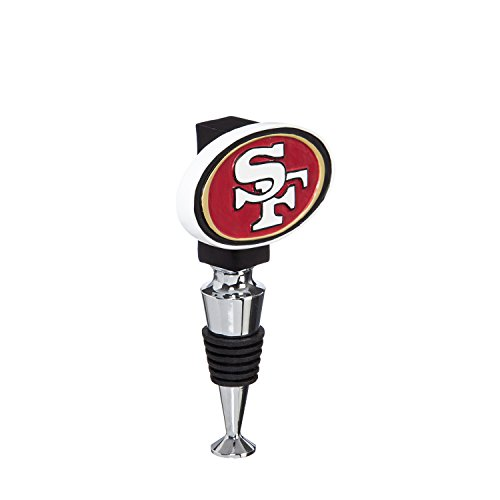 (Team Sports America San Francisco 49ers Hand-Painted Team Logo Bottle Stopper)