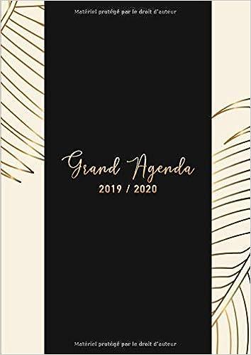 Amazon.com: Grand Agenda 2019/2020: 18 mois Agenda de ...