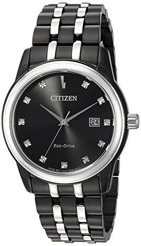 Citizen-Mens-Diamond-Quartz-Stainless-Steel-Casual-Watch-ColorTwo-Tone-Model-BM7348-53E