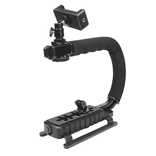 D&F Video Stabilizer Handheld Stabilizing Grip Hand Holder with 1/4 Screw Hole for GoPro 6/5/4/3+/3 SJCAM, Sony Canon Nikon DSLR and DV Camcorder by D&F