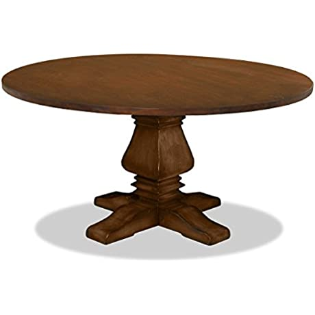 South Cone Home TOSCANADN72 COGNAC Irina Reclaimed Wood Dining Table 72 Round Dry Cognac